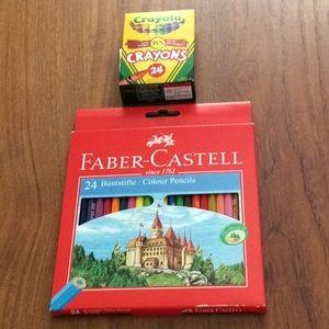 Faber Castell Pencil Crayons & Crayola Crayons